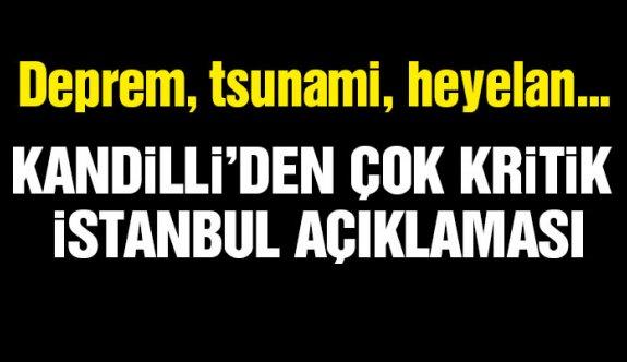 Kandilli'den kritik açıklama! Marmara'da 'tsunami' tehlikesi var mı ?