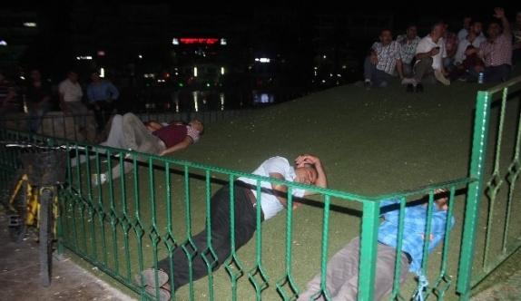 Aydın'da 'Demokrasi Nöbeti' manzaraları