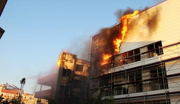 Hastane yangınında sabotaj şüphesi
