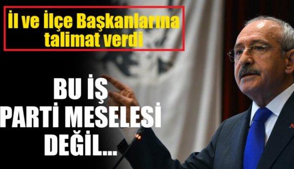 Kemal Kılıçdaroğlu: Bu iş parti değil, vatan meselesi