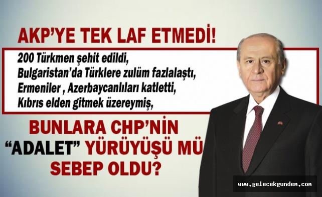 Bahçeli, dört sayfalık açıklamada AKP'ye tek laf etmedi!