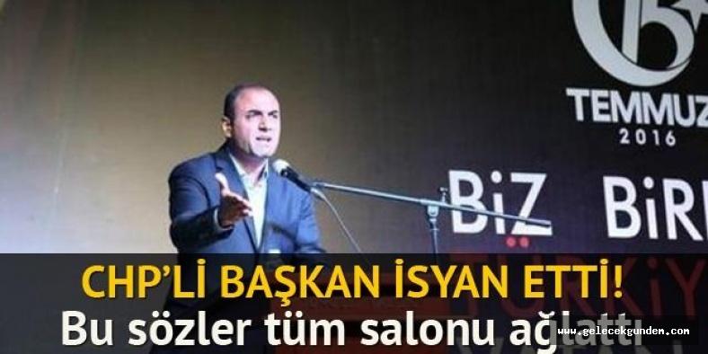 CHP'li başkanın sözleri herkesi ağlattı