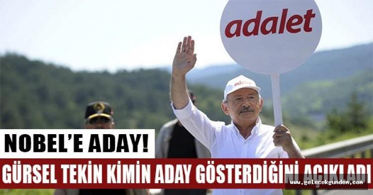 ''Kemal Kılıçdaroğlu Nobel'e aday gösterildi''