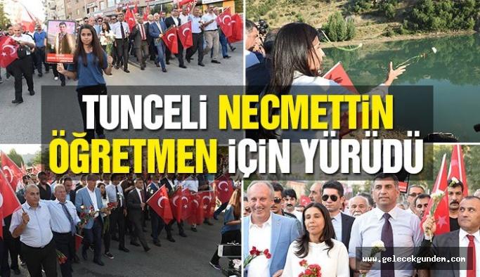Tunceli 'de Necmettin öğretmeni anma yürüyüşü gerçekleşti