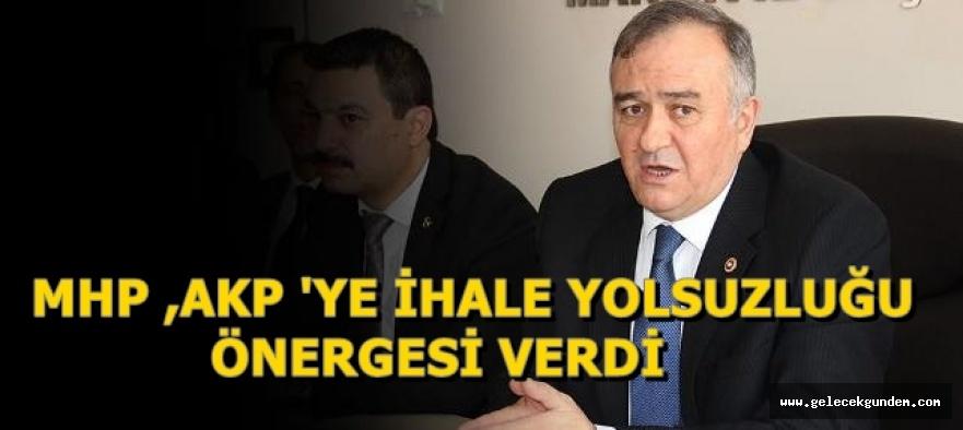 MHP,AKP'YE İHALE YOLSUZLUĞU ÖNERGESİ VERDİ