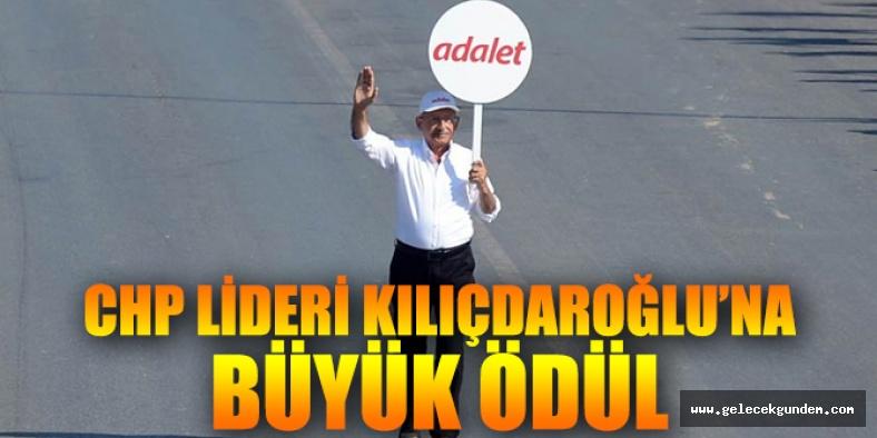 CHP lideri Kemal Kılıçdaroğlu'na büyük ödül