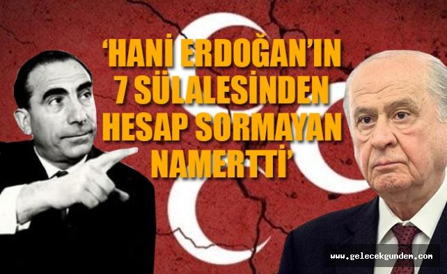 'Devlet Bahçeli, Alparslan Türkeş'in kemiklerini sızlattı'