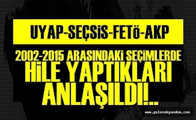 '2002-2015 SEÇİMLERİNDE 'HİLE' YAPILDIĞI ANLAŞILDI'