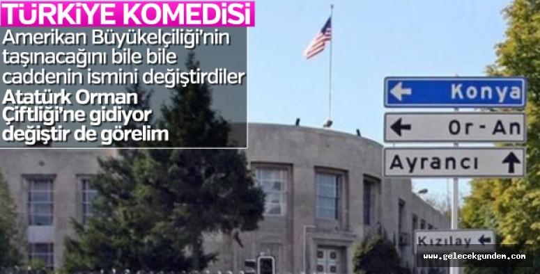 ABD Büyükelçiliği'nin bulunduğu caddenin ismi değişti