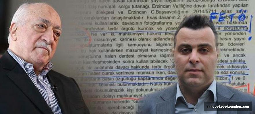 İlginç Mahkeme Kararı, Fethullah Gülen'e 'vatan haini' diyen gazeteciye hapis cezası