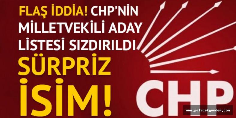 CHP İSTANBUL ADAY LİSTESİ SIZDI