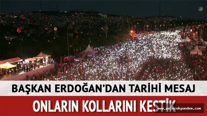 Erdoğan: Bu zafer o gece darbecilere meydan okuyan şehit ve gazilerimizin cesaretinin sonucudur