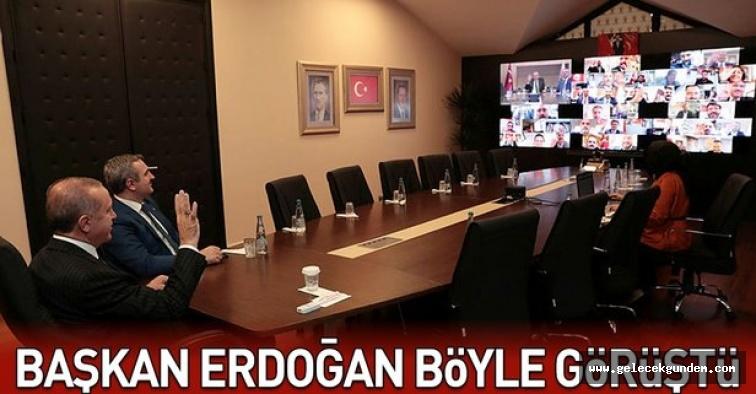 Başkan Erdoğan, İstanbul AK Parti ilçe başkanları ile telekonferansla görüştü