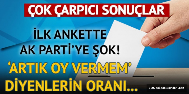 SON ANKET...AK PARTİ İSTANBUL'DA DÜŞÜŞTE