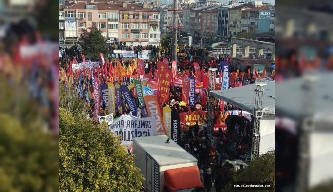 Bakırköy de, Krize karşı İstanbul mitingi: Faturayı ödemeyeceğiz