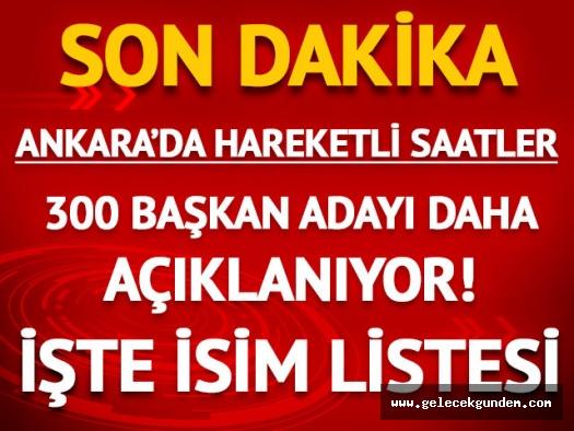 CHP belediye başkan adayları (CHP aday listesi)