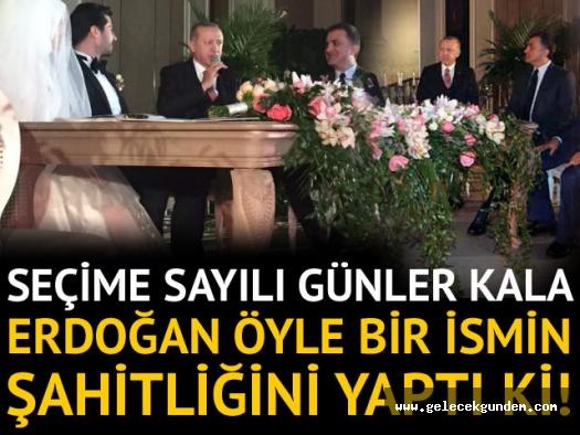 Cumhurbaşkanı Erdoğan kimin torununun düğününde şahitlik yaptı?