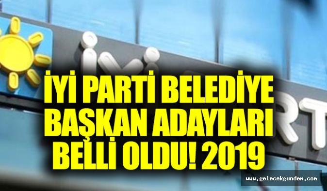 İYİ Parti belediye başkan adayları 2019 belli oldu