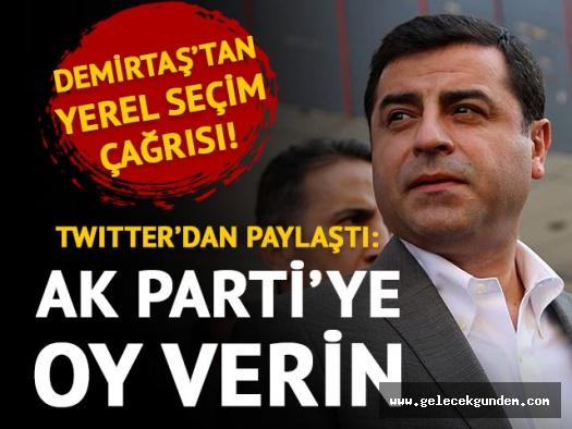 Selahattin Demirtaş: AKP'ye oy verin!