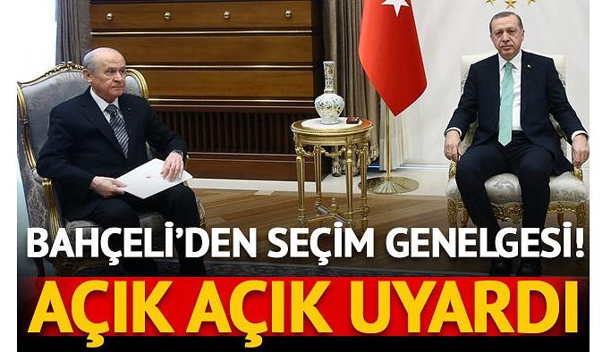 Devlet Bahçeli'den MHP teşkilatına seçim genelgesi