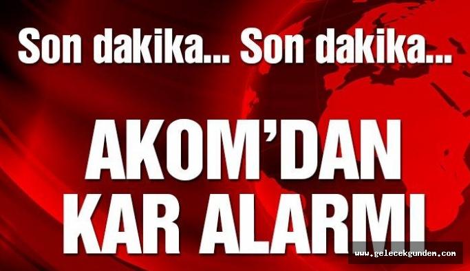 Son dakika: AKOM'dan İstanbul'a kar alarmı! Meteoroloji'nin uyardığı hava dalgası geliyor!