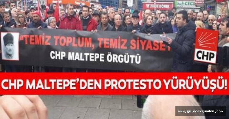 CHP Maltepe  İlçe Örgütü Ankara'ya Doğru Yürüyüşe Geçti