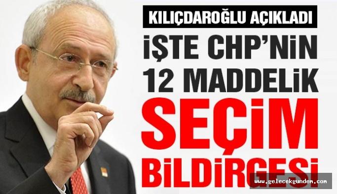 CHP'nin yerel yönetimler  seçim bildirgesi