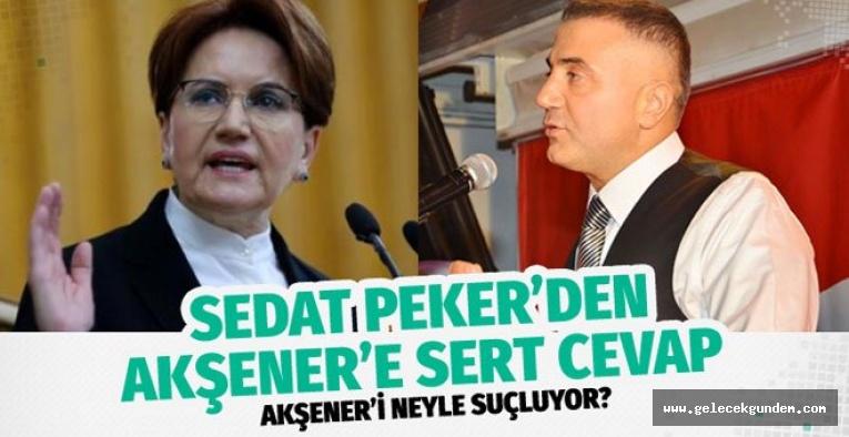 Meral Akşener'e  Sedat Peker 'den çok sert cevap