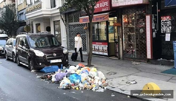 Şişli'de işçiler 5400 TL maaş alıyorlar: Ödemeler aksayınca çöpler sokak ortasında kaldı