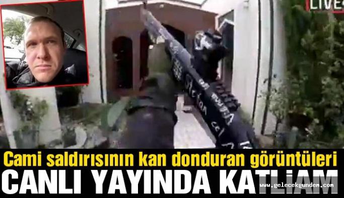 Katliamı canlı yayınladı! Cami saldırısında kan donduran görüntü