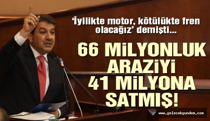 AKP'li Belediye 66 milyonluk arazisini 41 milyona satmış!