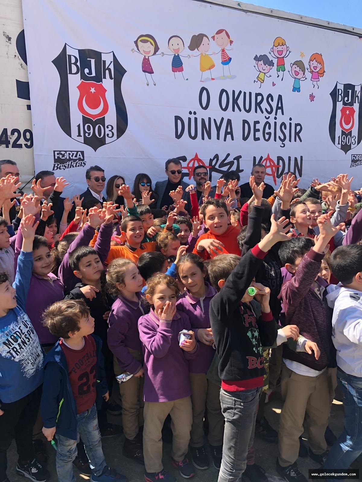 Beşiktaş  Tırı Doğu Karadenize ulaştı, binlerce çocuk sevinecek.