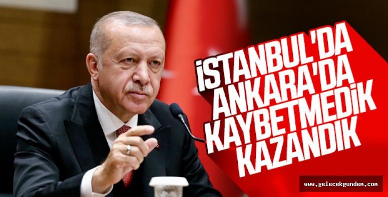 """CUMHURBAŞKANI ERDOĞAN """"İSTANBUL VE ANKARAYI KAYBETMEDİK"""""""