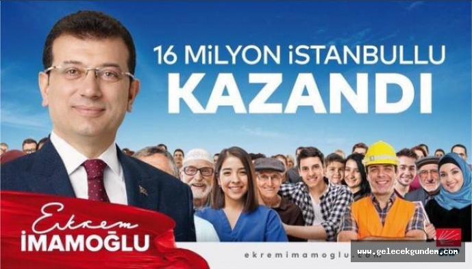 İstanbul'un seçim sonuçları açıklandı! Ekrem İmamoğlu başkan!
