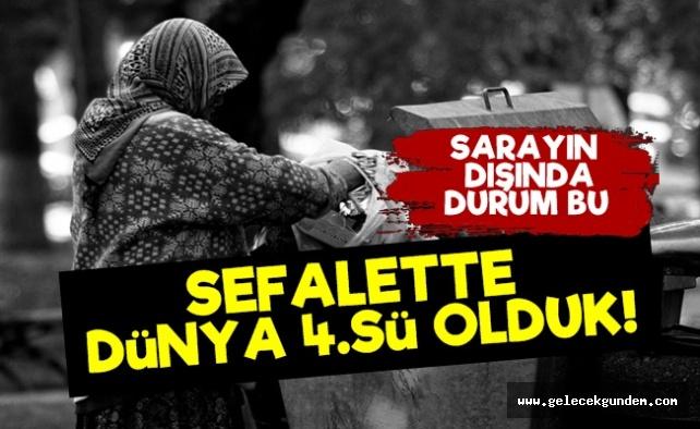 Türkiye Sefalette Dünya 4.'sü Oldu!