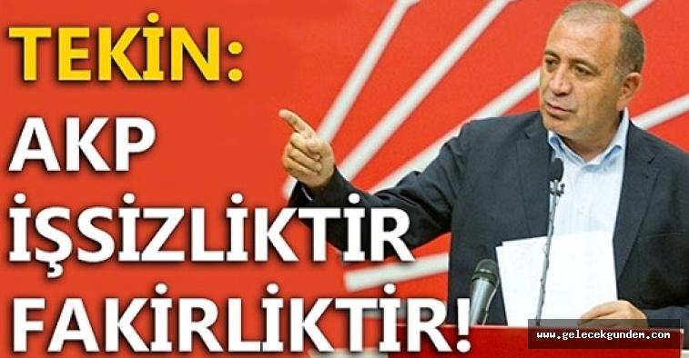 CHP 'li Tekin: AKP işsizliktir, fakirliktir!