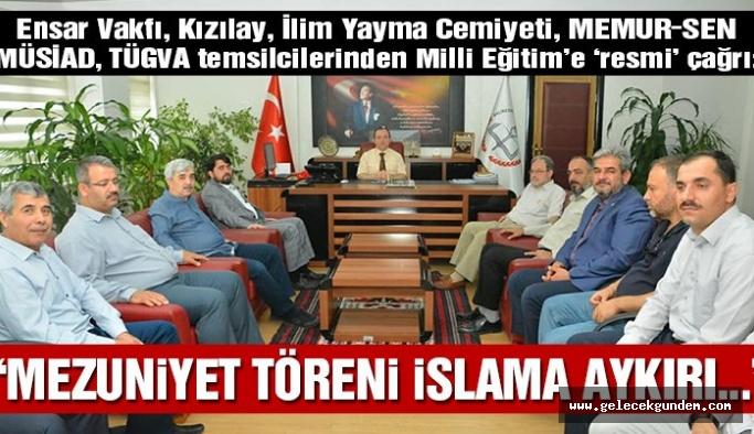Ensar, TÜGVA, Kızılay, İlim Yayma Cemiyeti: Mezuniyet törenleri İslama aykırı