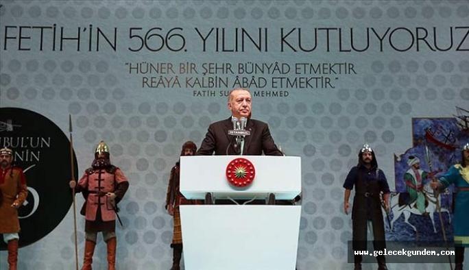 Erdoğan: İstanbul'a baktığında sadece rant gören muhterislerin bu şehri yağmalamasının önüne geçtik