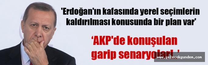 Erdoğan'ın kafasında yerel seçimlerin kaldırılması konusunda bir plan var'