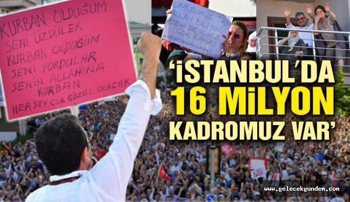 """İmamoğlu''Bu mesele, milli bir meseledir. Demokrasi meselesidir. İstanbul meselesidir. Siyaset üstüdür"""""""