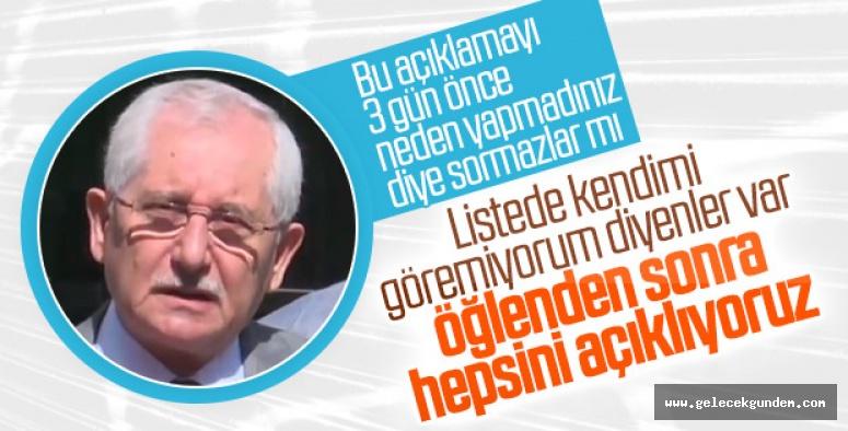YSK Başkanı'ndan seçmen listesi açıklaması!