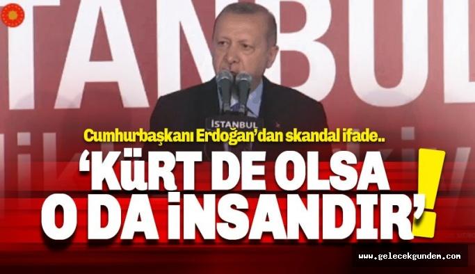 Cumhurbaşkanı Erdoğan: Kürt de olsa, o da insandır
