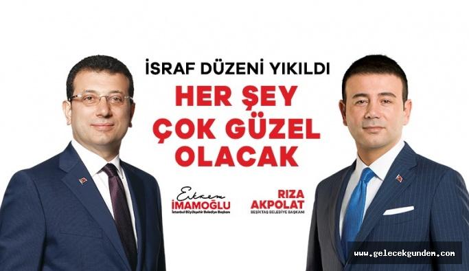 İstanbul'da  İBB Başkanı Ekrem İmamoğlu'na  Beşiktaş'ta rekor oy!