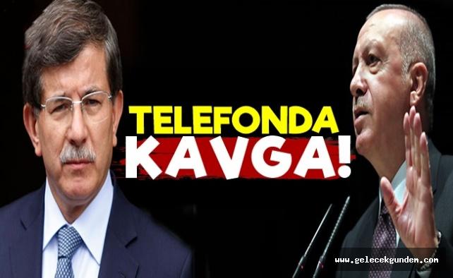 Telefonda Erdoğan-Davutoğlu Kavgası!