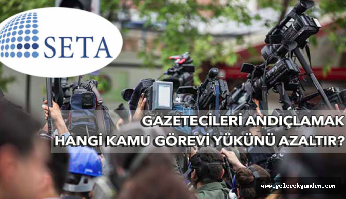 Gazetecileri fişleyen SETA vergiden muaf!