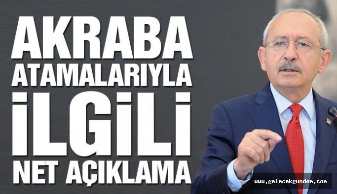 Kılıçdaroğlu'ndan belediyelerde atamalarla ilgili açıklama