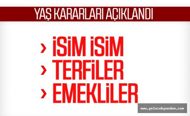 Cumhurbaşkanı Recep Tayyip Erdoğan başkanlığındaki YAŞ toplantısı, sona erdi. Erdoğan, YAŞ kararlarını onayladı.