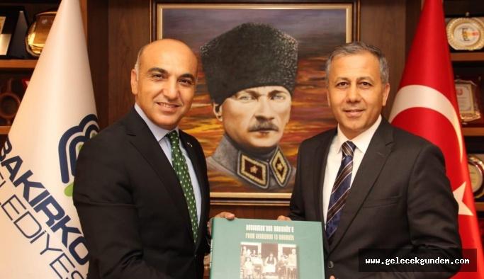 İstanbul Valisi Ali Yerlikaya ,Bakırköy Belediye Başkanı Dr. Bülent Kerimoğlu'nu ziyaret etti.