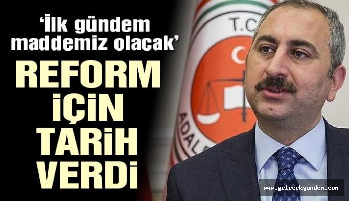 Son dakika… Adalet Bakanı açıkladı: Yargı Reformu Ekim'de