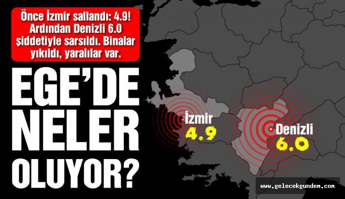 Son dakika: Denizli'de çok büyük deprem! Denizli 6 büyüklüğünde deprem…